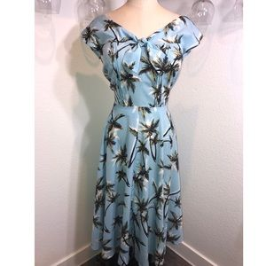 Unique Vintage 1940s palm tree havilland dress